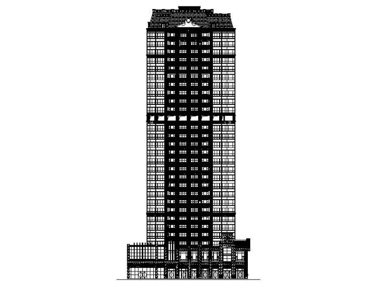 [广西]经典欧式立面风格高层住宅施工图