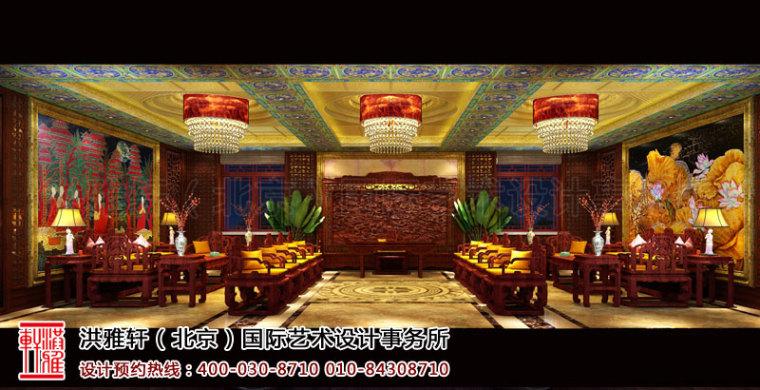 寺院设计-古典的泊莲禅寺寺院中式装修效果图案例第1张图片