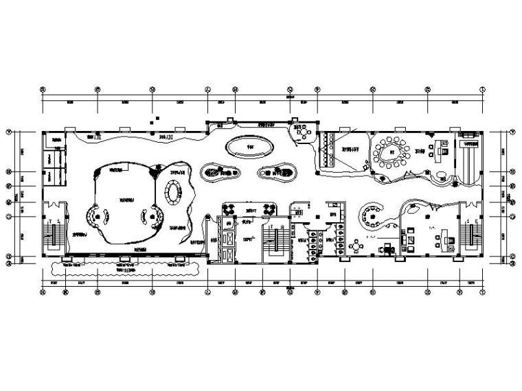 [江苏]时尚个性企业展厅室内设计施工图(含效果图)