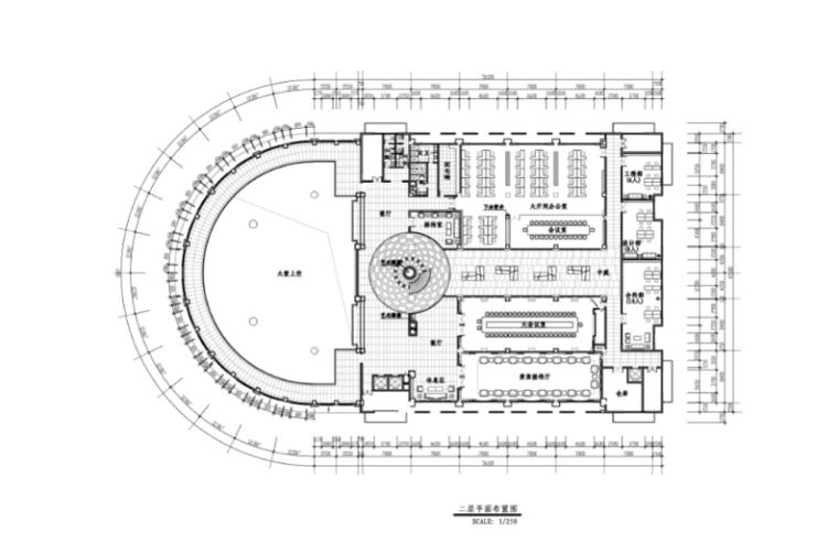 [山东]现代风格豪德集团办公空间设计施工图(附效果图)