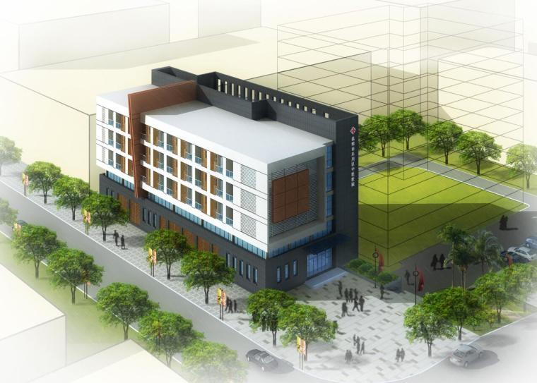 [云南]现代风格某中医院建筑方案文本(包含JPG+CAD+3个方案文本)