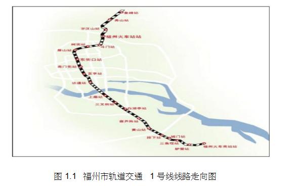 福州市轨道交通1号线工程(一期)供电系统