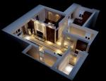现代居室鸟瞰3D模型下载