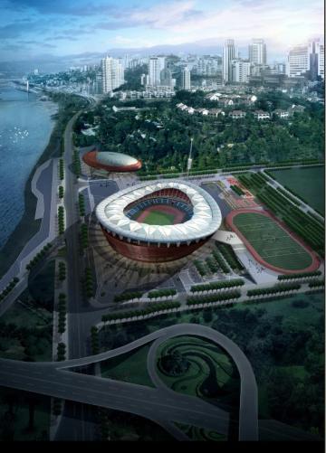 [重庆]三层现代风格3万人体育中心建筑设计方案文本