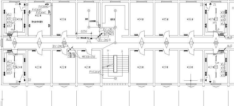某公寓楼电气改造工程图1