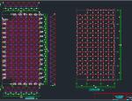 20.8mX40.4m舞台双层网架正放四角锥焊接球结构施工图