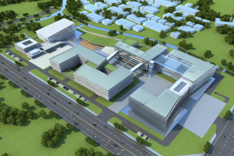 高层现代风格电网调度中心办公楼方案文本_2