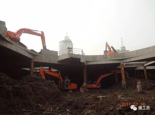 【图解案例】超高层建筑22米深基坑逆作法施工现场,看基础如何倒_8