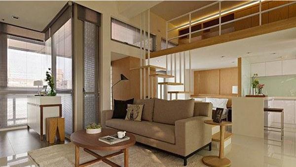 原木风格Loft公寓装修案例,让阳光穿透隔断充满空间!