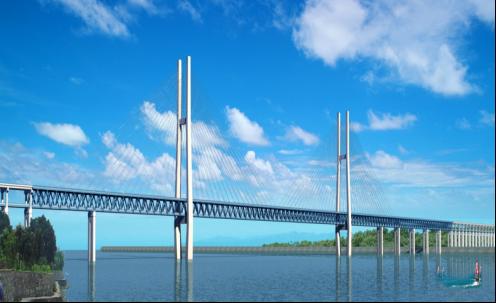 [湖北]斜拉鋼桁架主橋綠色施工實施情況匯報(豐富配圖)
