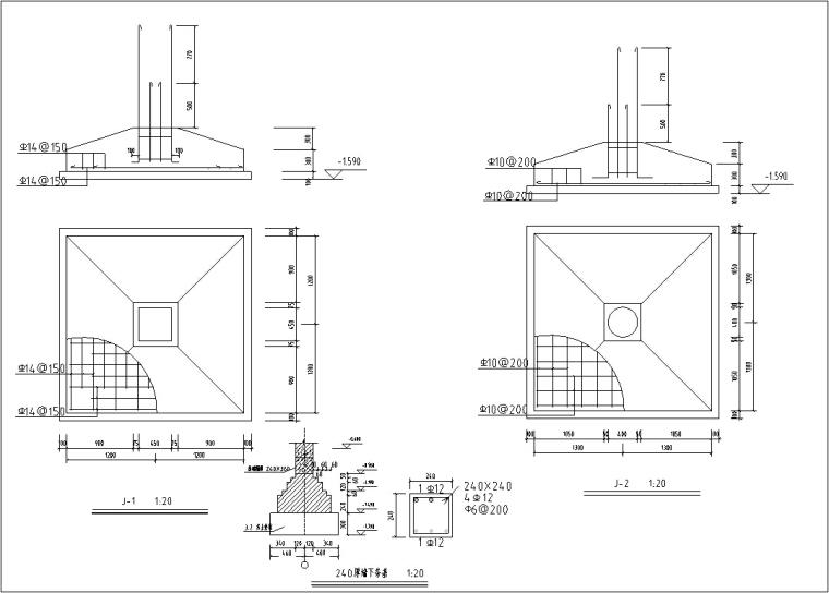 5套商务办公楼建筑设计施工图CAD-多层办公楼建筑设计屋顶