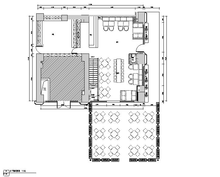 [广东]复古工业风217咖啡店设计施工图(附效果图)