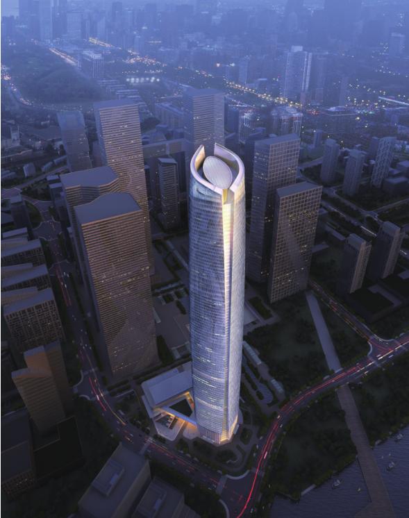 [武汉]438米办公酒店综合体建筑设计方案文本(华东设计研究院)