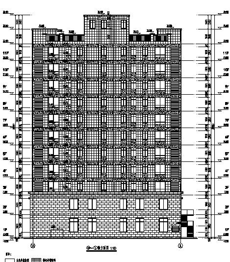 高层塔式商住楼建筑施工图(含水暖电专业)