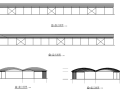 单层钢管桁架结构蔬菜批发市场大棚结构施工图