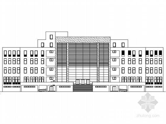 某学校五层行政办公楼建筑方案图