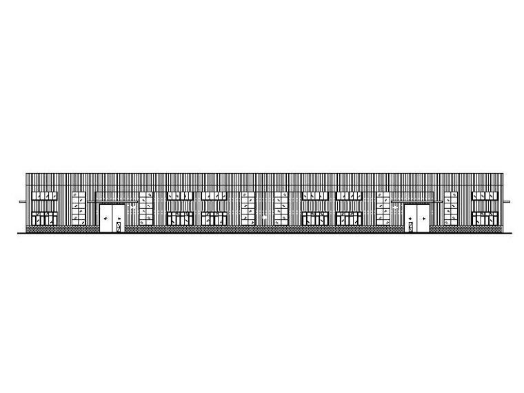[四川]单层门式刚架彩钢板中医药厂房建筑施工图(含结构电气)