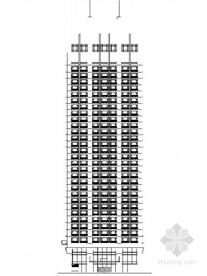 [广东]26层玻璃幕墙办公大厦设计施工图(知名建筑 含效果图)