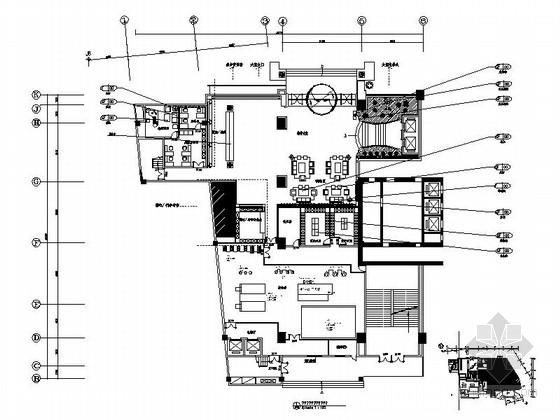 [郑州]新酒店理念泰式风格国际健康水疗会所室内CAD装修图(含效果实景)