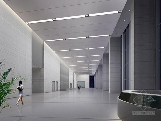 [深圳]高端商务核心区现代科技大厦室内装修图(含效果)大堂效果图