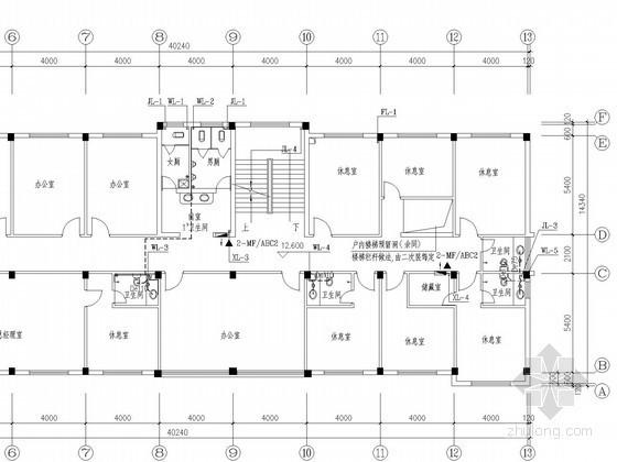 综合办公楼给排水施工图(大院作品)
