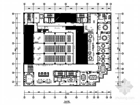 [武汉]大都会时尚特色四星级酒店餐厅装修施工图