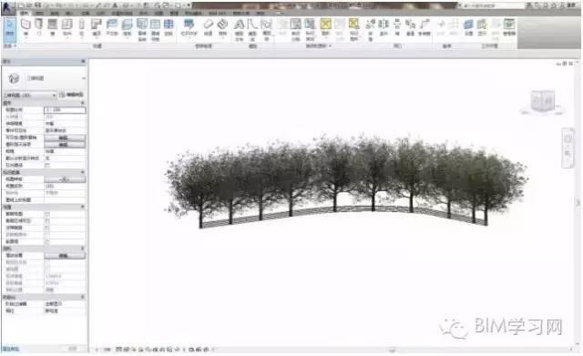 Revit栏杆扶手快速创建道路树木或路灯的技巧_3