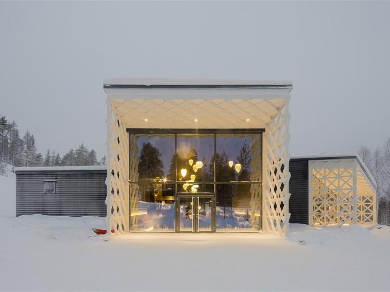 芬兰北极树屋酒店餐厅