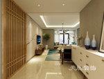 泰宏建业国际城装修,温润木质感串联居家氛围