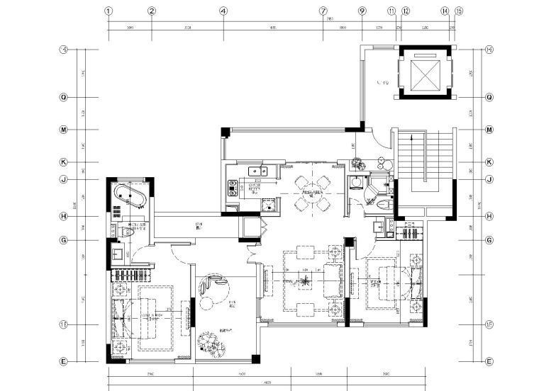 [上海]葛亚曦-上海绿地启东项目108平叠层两居室样板房施工图+软装方案+效果图