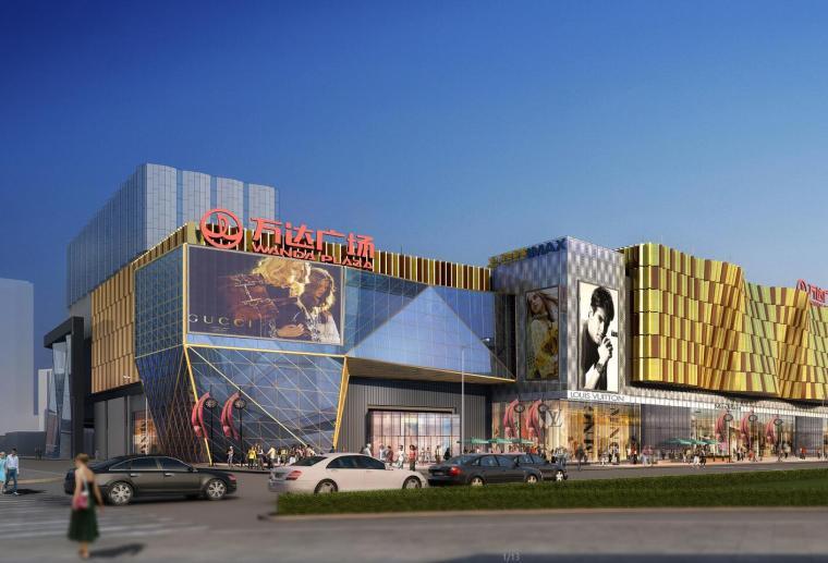 [湖北]武汉汉街万达商业建筑商业模型设计