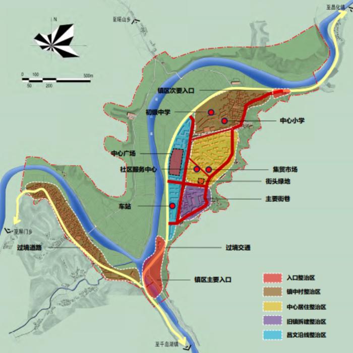 [浙江]乡镇环境综合整治改造城市规划景观设计-规划总平面图