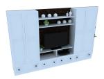 简约电视柜3D模型下载