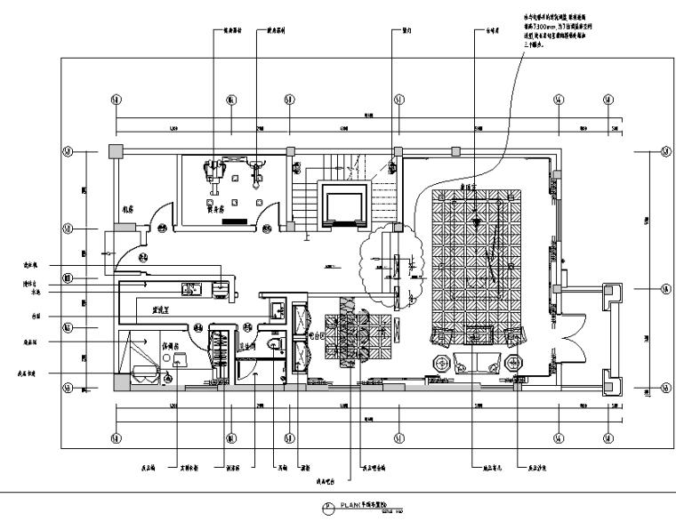 英式风阳光怡庭三居室样板房设计施工图(附效果图)