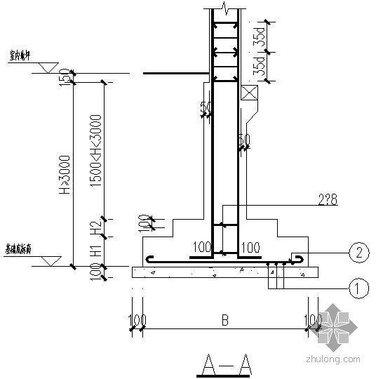 常用基础大样及剖面节点构造详图