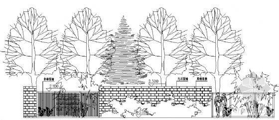 小区围墙施工详图