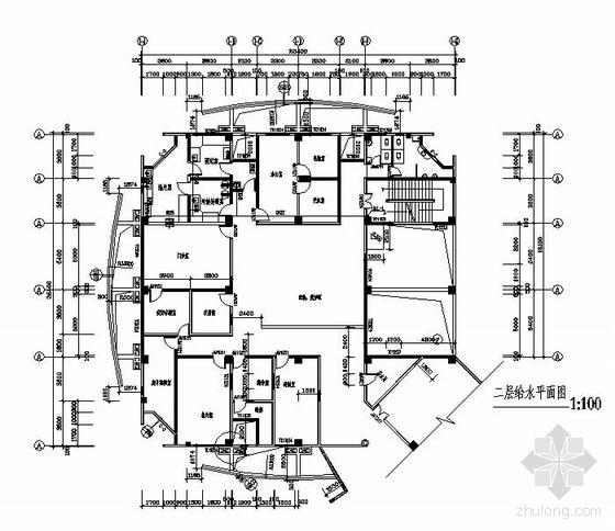 某市疾控中心给排水设计图