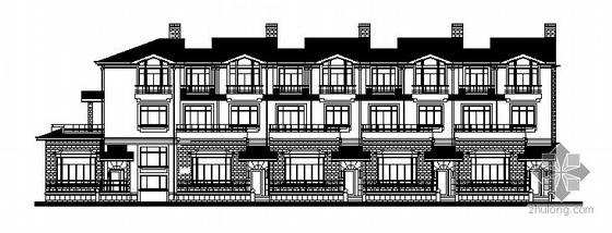 某三层现代欧式联排别墅建筑施工图