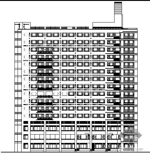上海市某医院住宅楼建筑施工图