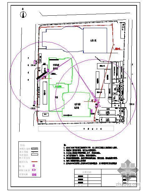 北京某通信指挥楼地上结构现场平面布置图