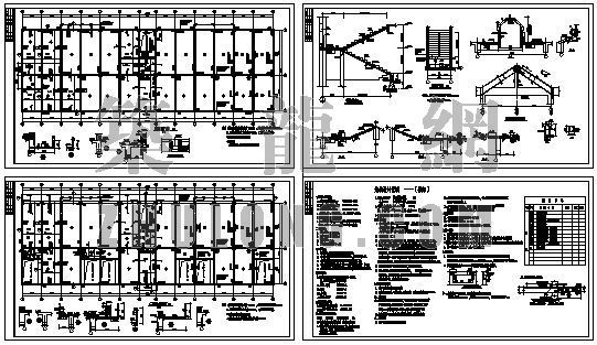 某多层带坡顶框架结构图