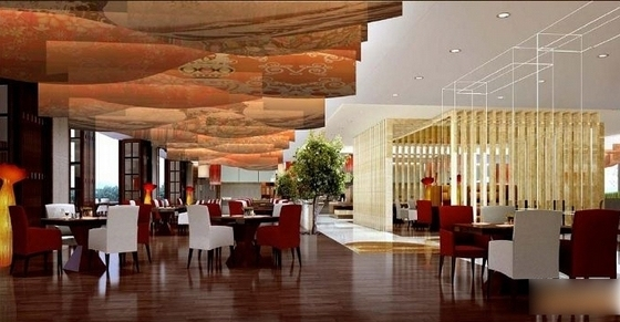 [贵阳]总投资10亿全球豪华五星级酒店设计方案全日餐厅效果图