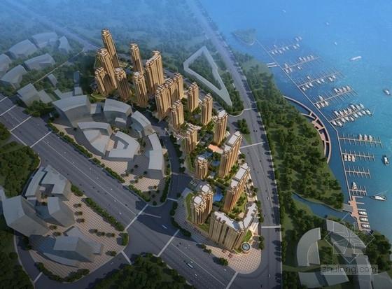 [福建]高层大尺度院落塔式沿海住宅建筑设计方案文本