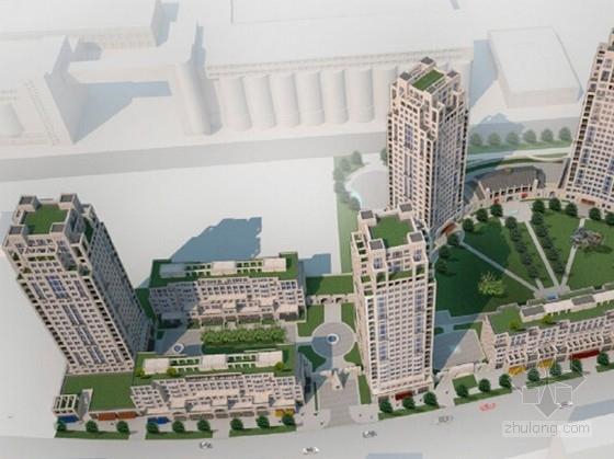 [上海]现代风格高层住宅楼建筑设计方案文本(知名地产)