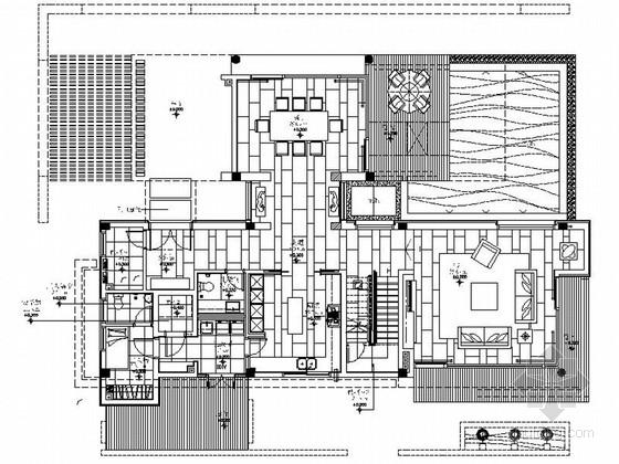 [广东]精品高级现代风格三层别墅室内设计装修施工图(图纸细致、推荐!)