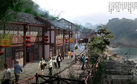 [四川]综合多地块滨河城市沿线景观规划设计方案-景观效果图