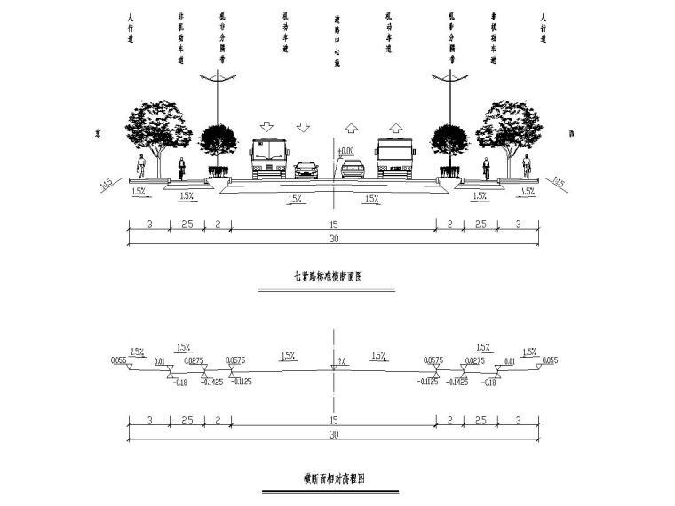 城市道路工程施工图设计25张