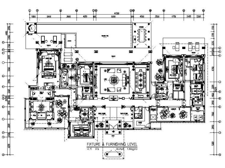 [三亞]5星豪華酒店總統套房室內設計施工圖