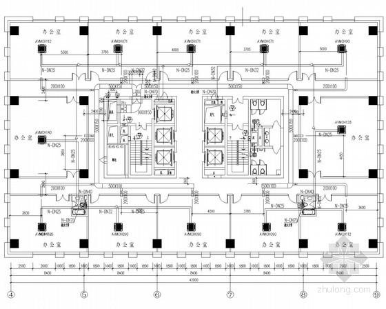 [湖南]高层办公楼及其裙房建筑通风空调系统设计施工图(含人防设计)