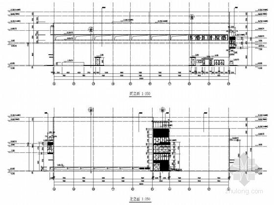 两层戏剧学院影视教学楼结构施工图(含建筑图)
